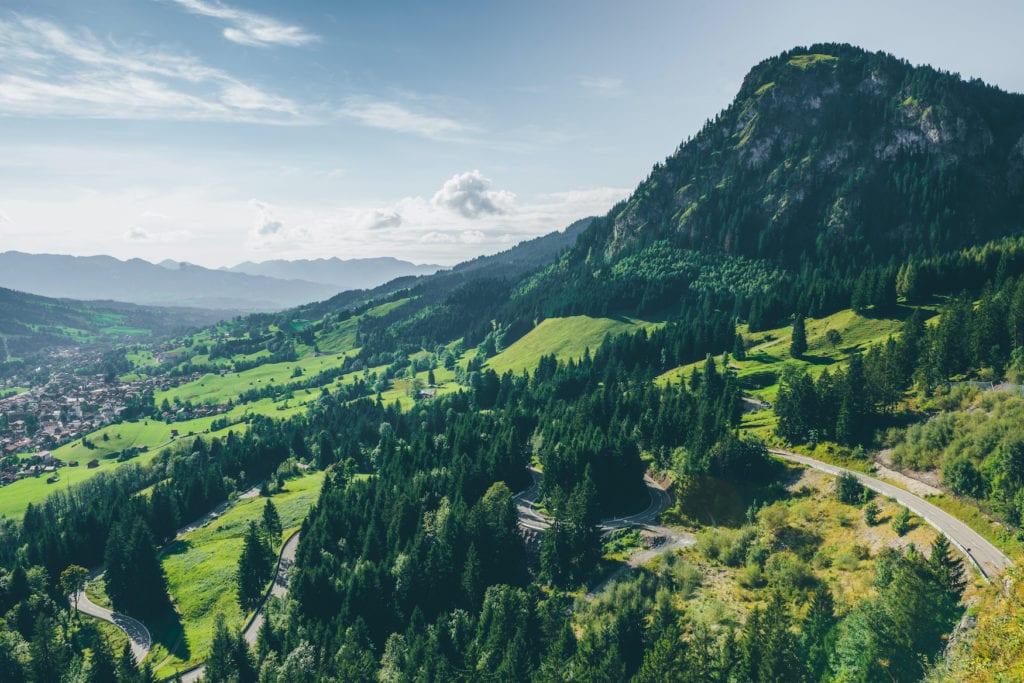 Alpenstraße durch das pittoreske Allgäu