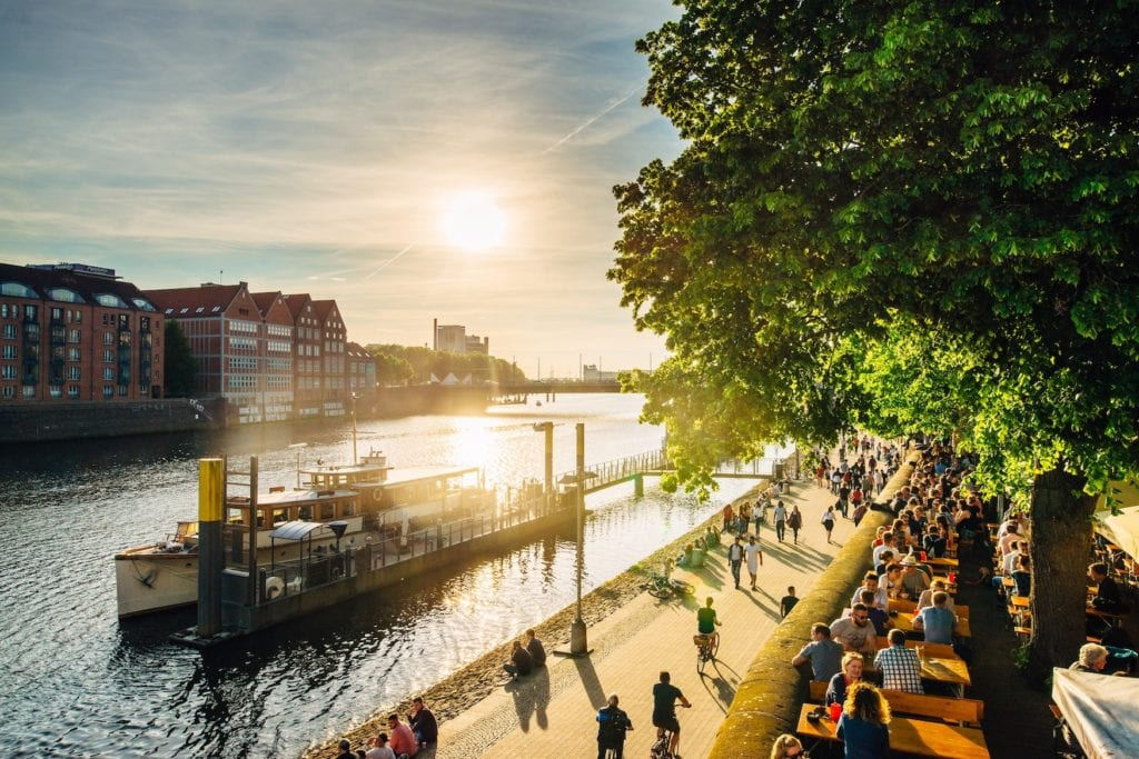 Sonnenschein an der Weserpromenade