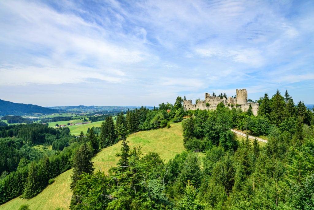Vogelperspektive auf Hohenfreyberg in Bayern beim Geocaching in Deutschland
