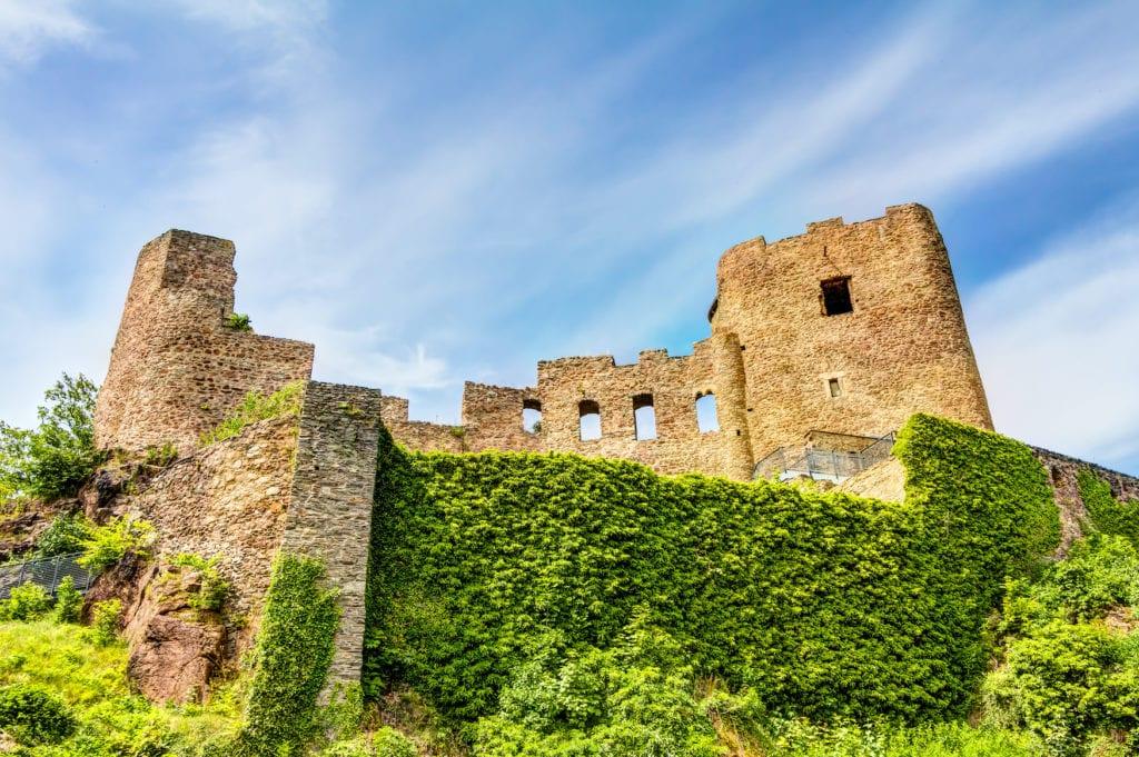 Blick auf die mittelalterliche Burg Frauenstein
