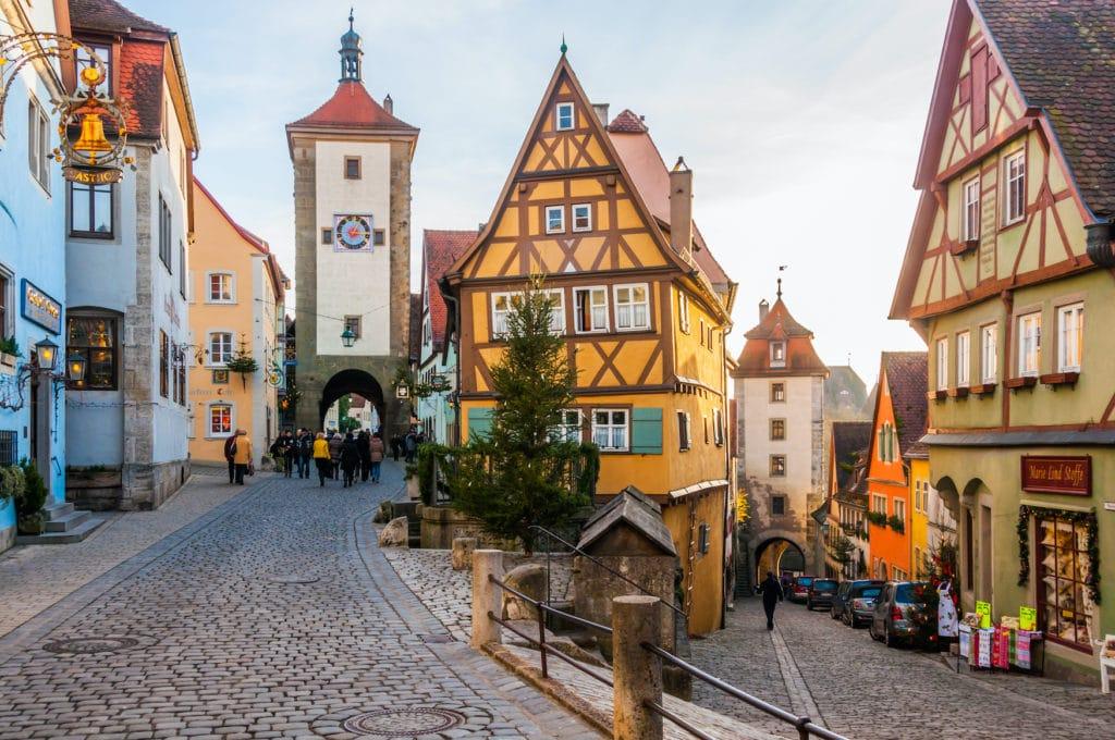Das mittelalterliche Städtchen Rothenburg ob der Tauber