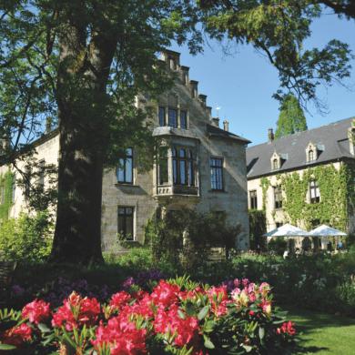Blick in den Garten des Schloss Ippenburg