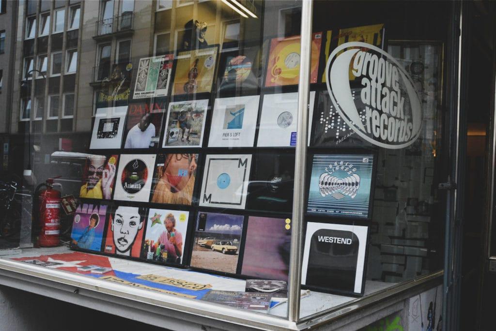 Schallplattengeschäft im Belgischen Viertel in Köln