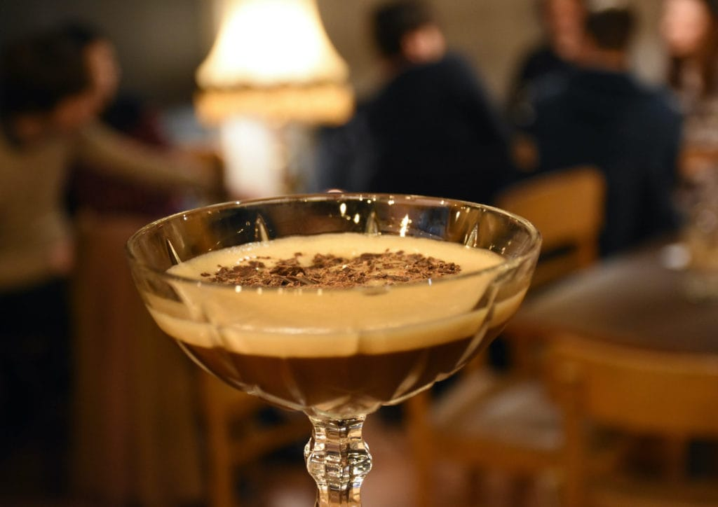 Close-up of a coffee cocktail