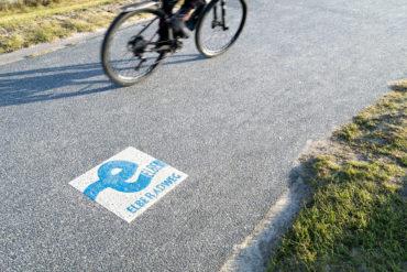 Radfahrer auf einer Fahrradtour durch Deutschland.