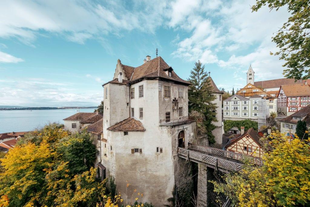Alte Burg in Meersburg. Zu sehen auf einer Fahrradtour durch Deutschland