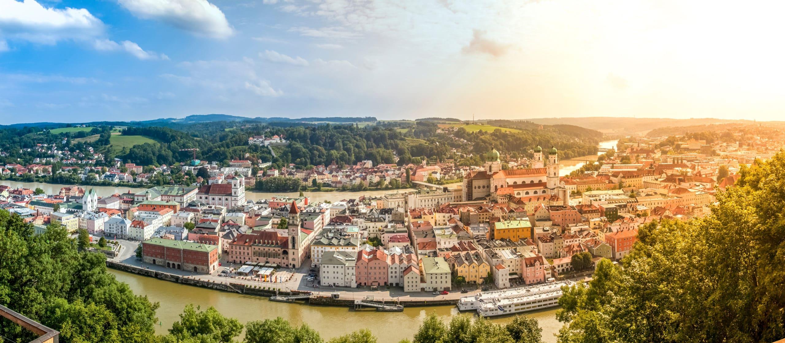 Aussicht auf Passau in Ostbayern