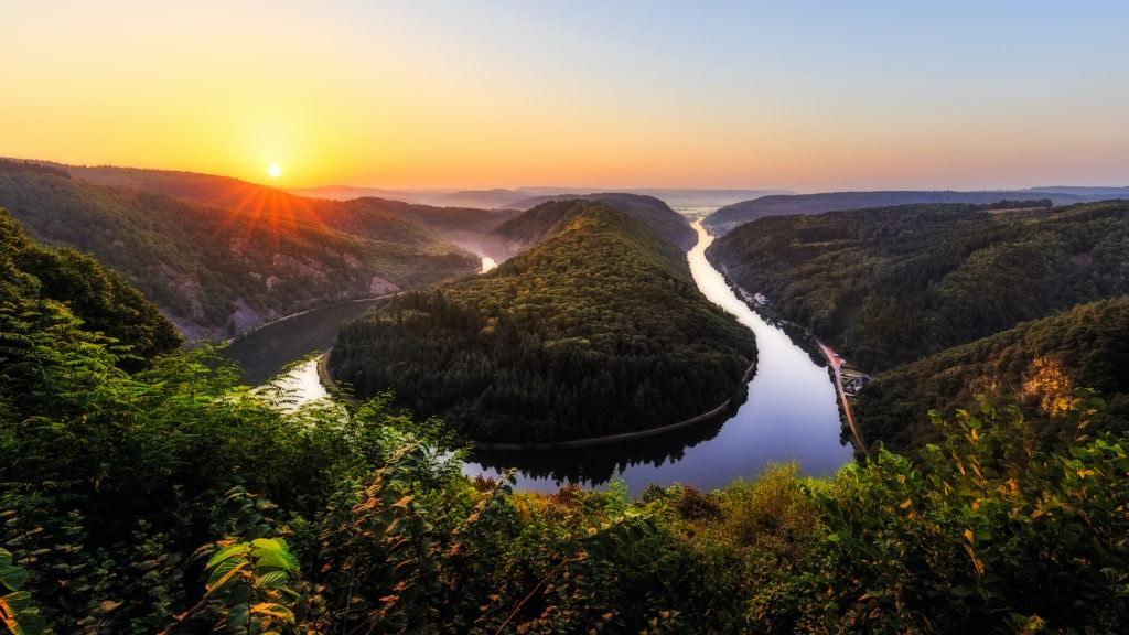 Blick auf die Saarschleife im Saarland