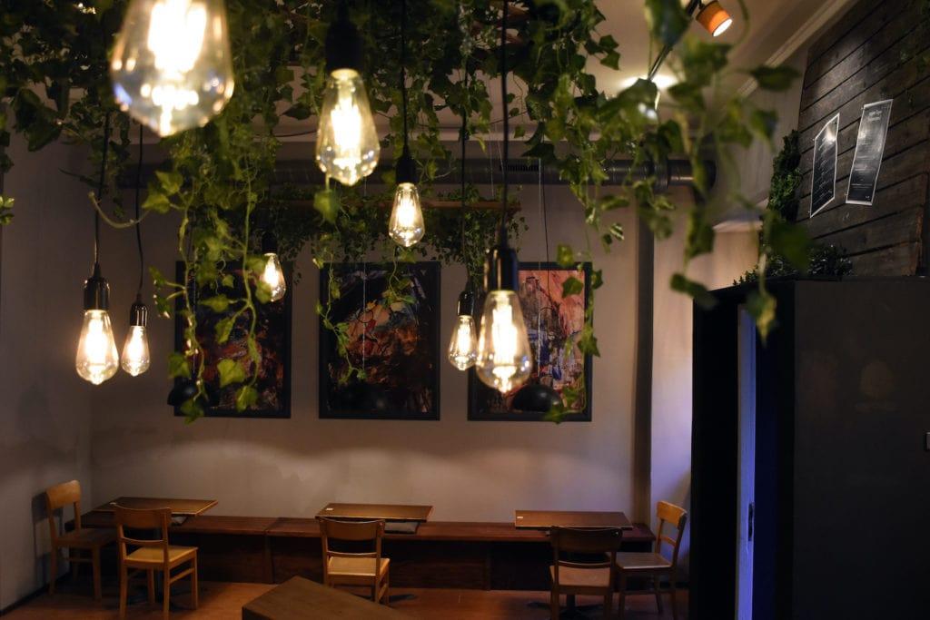 Interior design in non-alcoholic bar in Berlin