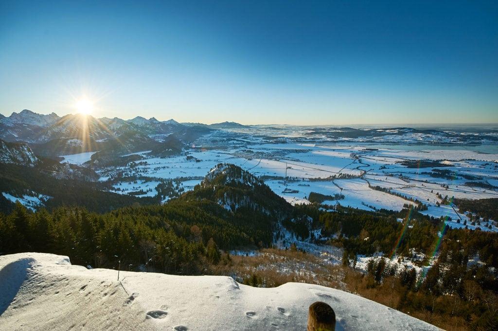 Winterlandschaft im Hörnerdörfer Skigebiet im Allgäu