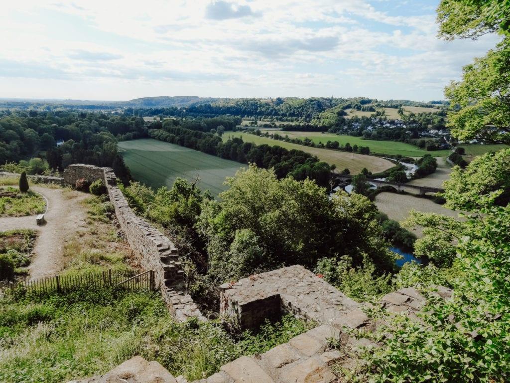 Aussicht auf die Stadt Blankenberg im Rhein-Sieg-Kreis