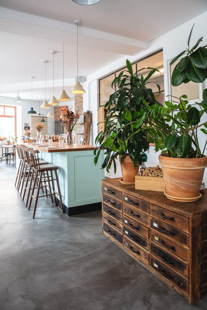 Interior in Zero-Waste-Restaurant in Berlin