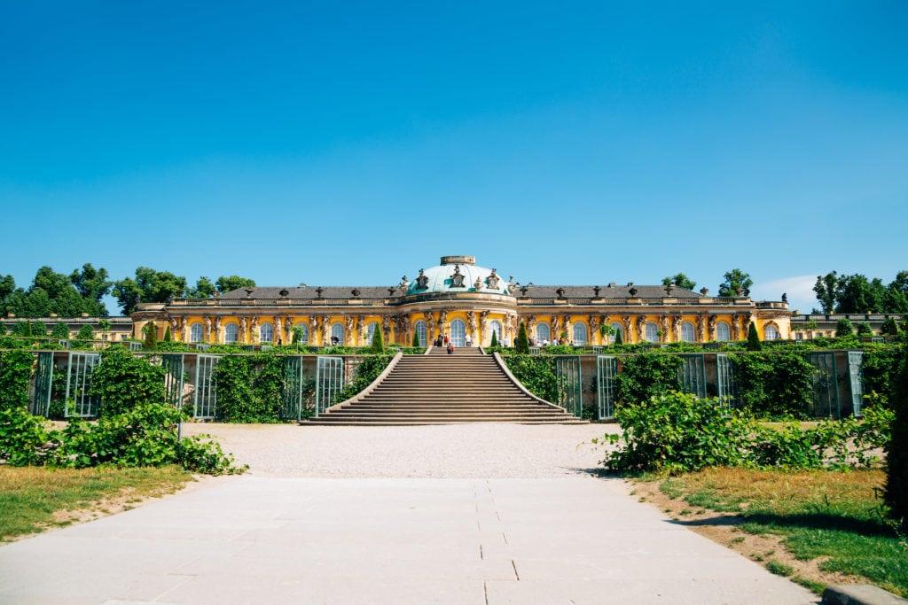 Das Schloss Sanssouci in Potsdam gehört zu den Unesco-Welterbestätten in Deutschland