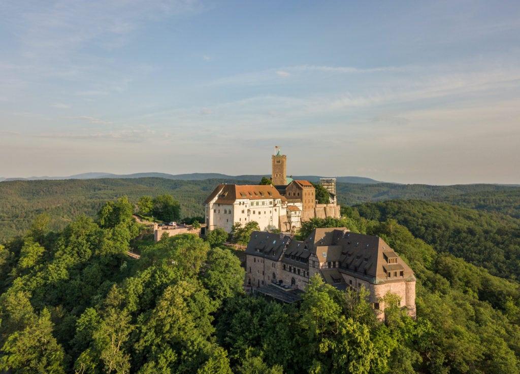 Umfeld der Wartburg in Eisenach, Thüringen