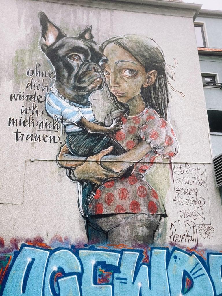 """Street Art von Künstlerduo """"Herakut"""""""