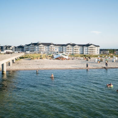 Exterior of Beach Motel Heiligenhafen on the Baltic Sea in Germany