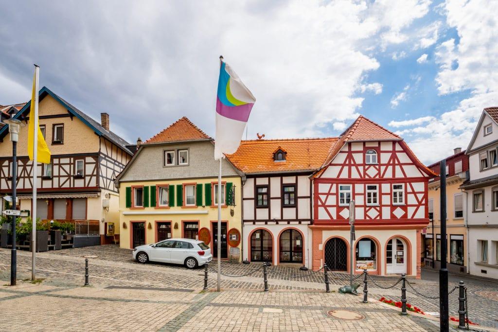 Marktplatz in Oppenheim, Rheinland-Pfalz