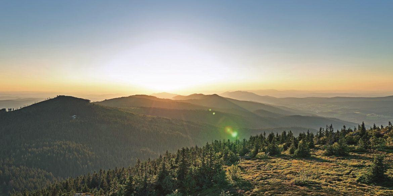 Bayerischer Wald: Landschaften vom Großen Arber aus gesehen