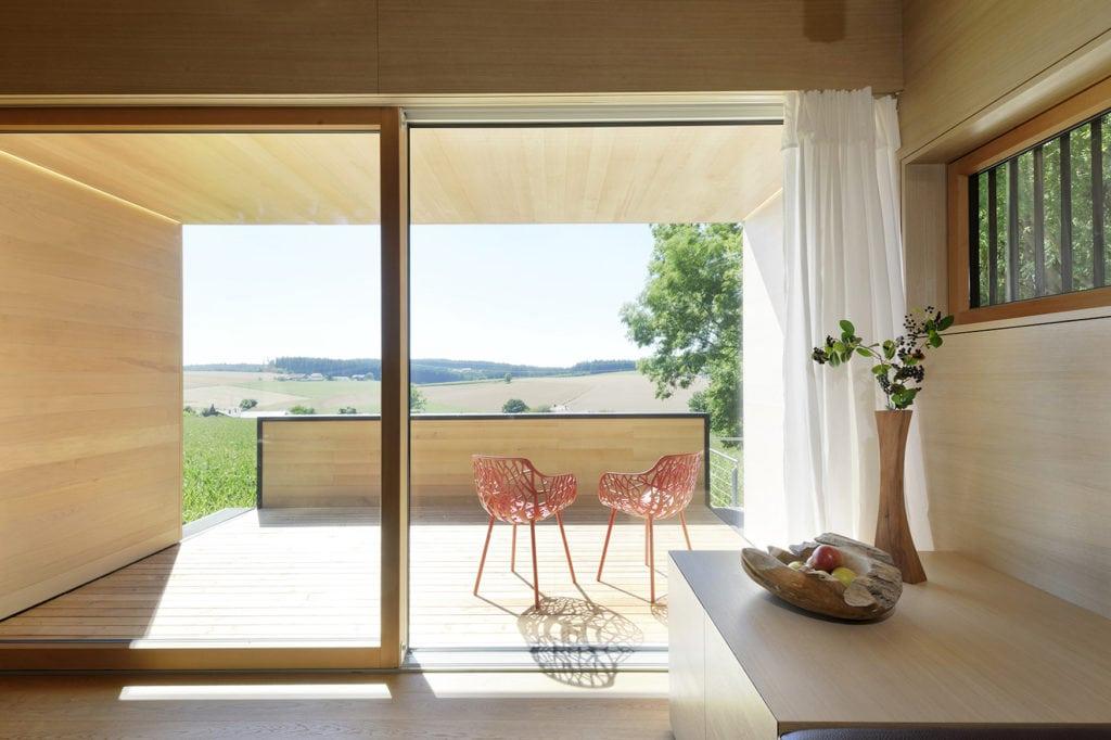 Interior im Haus am Wald des Hofgut Hafnerleiten, einer der schönsten Design Unterkünfte in Deutschland