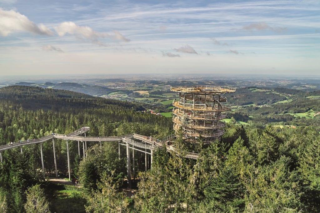 Waldturm auf dem Waldwipfelweg St. Englmar