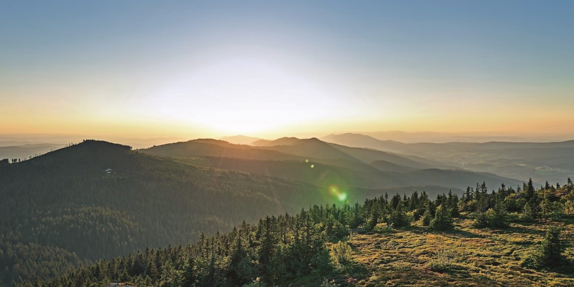 Bavarian Forest Landscapes as seen from the Großer Arber