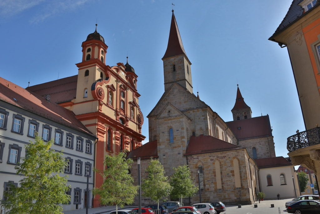 Romanische Basilika St. Vitus in der Stadt Ellwangen