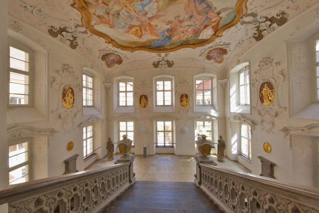 Deckenfresko im Treppenhaus des Schloss Ellwangen