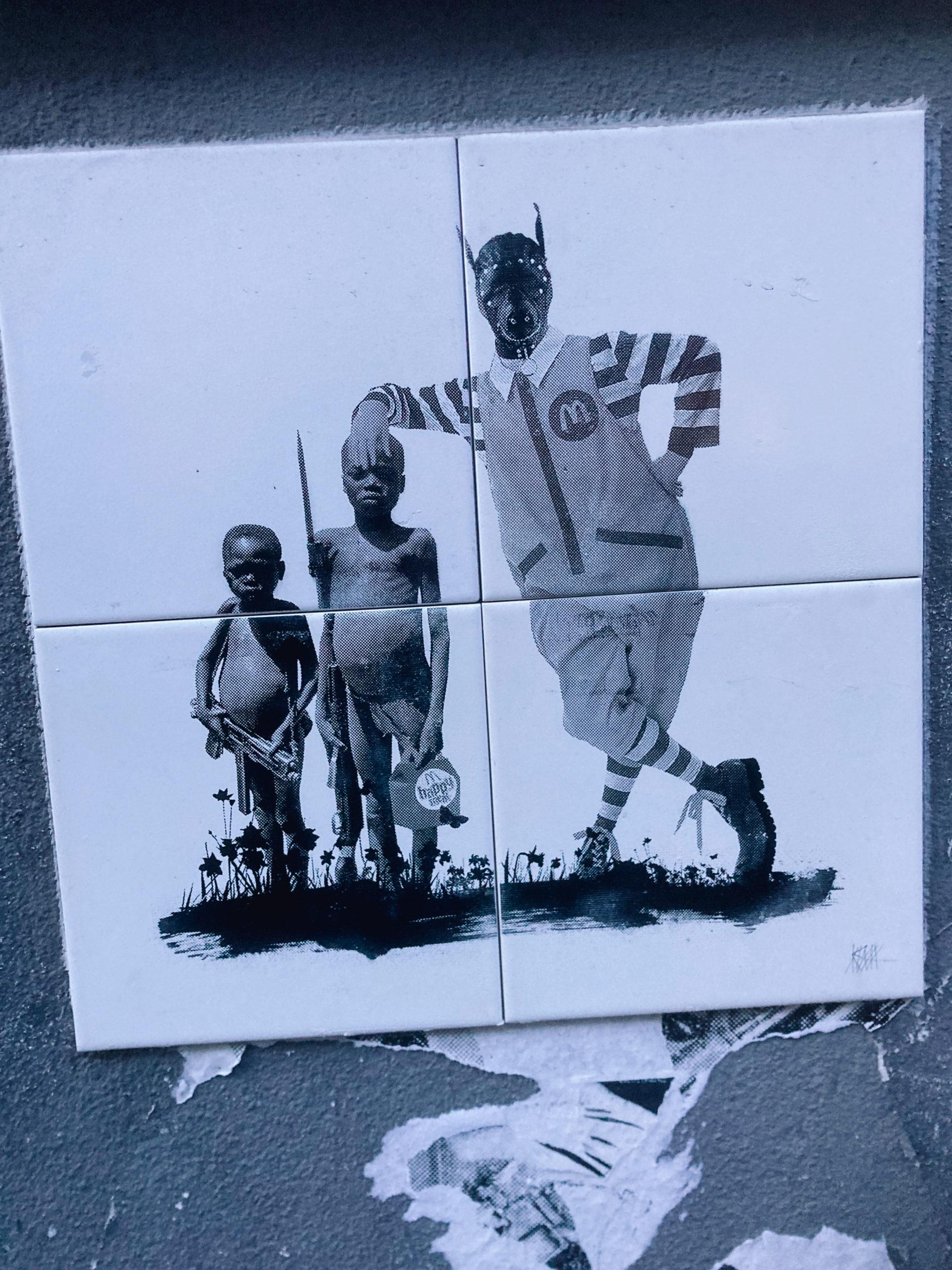 Straßenkunst in einem Viertel von Köln, das sich wunderbar mit dem Fahrrad erkunden lässt