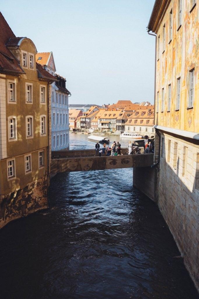 Weltreise durch Deutschland: Auf Gondeln über die Kanäle in Bamberg