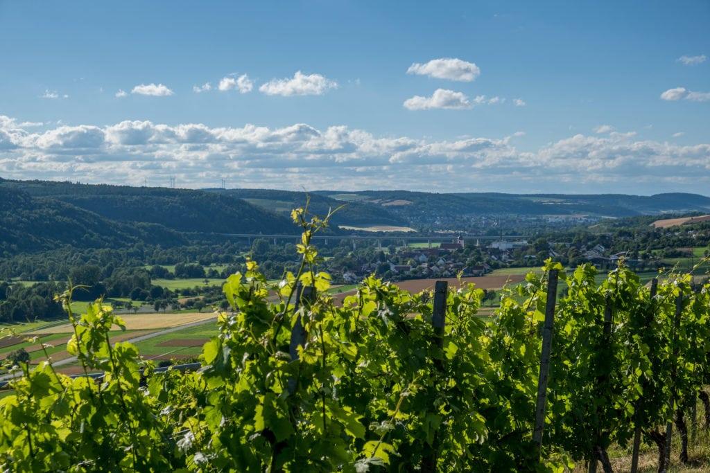 Blick über das Taubertal in Franken