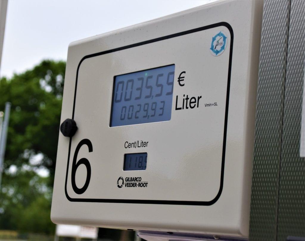 Preis pro Liter an Tankstelle