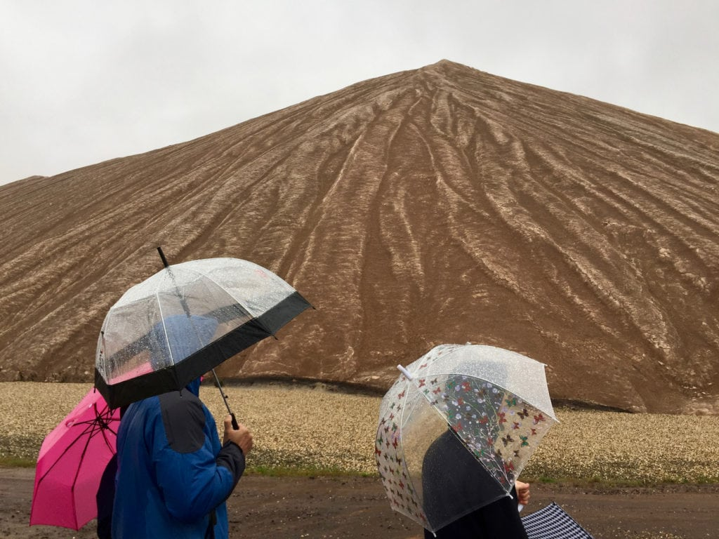 Kilimandscharo in Sachsen-Anhalt an verregnetem tag