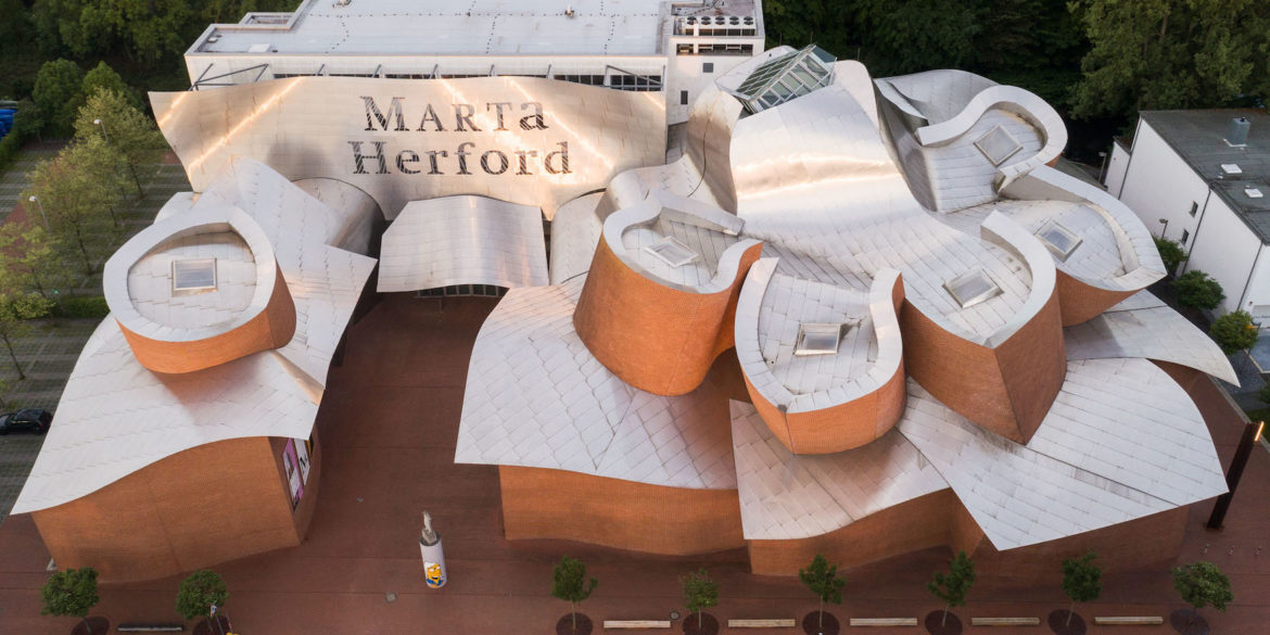 Museum Marta Herford from a bird's eye view