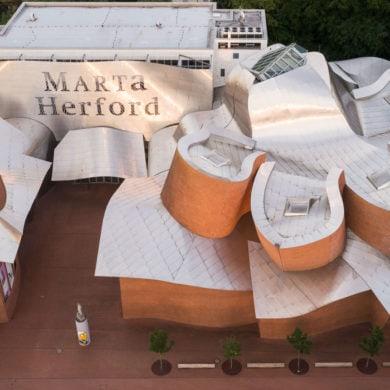 Museum Marta Herford aus der Vogelperspektive