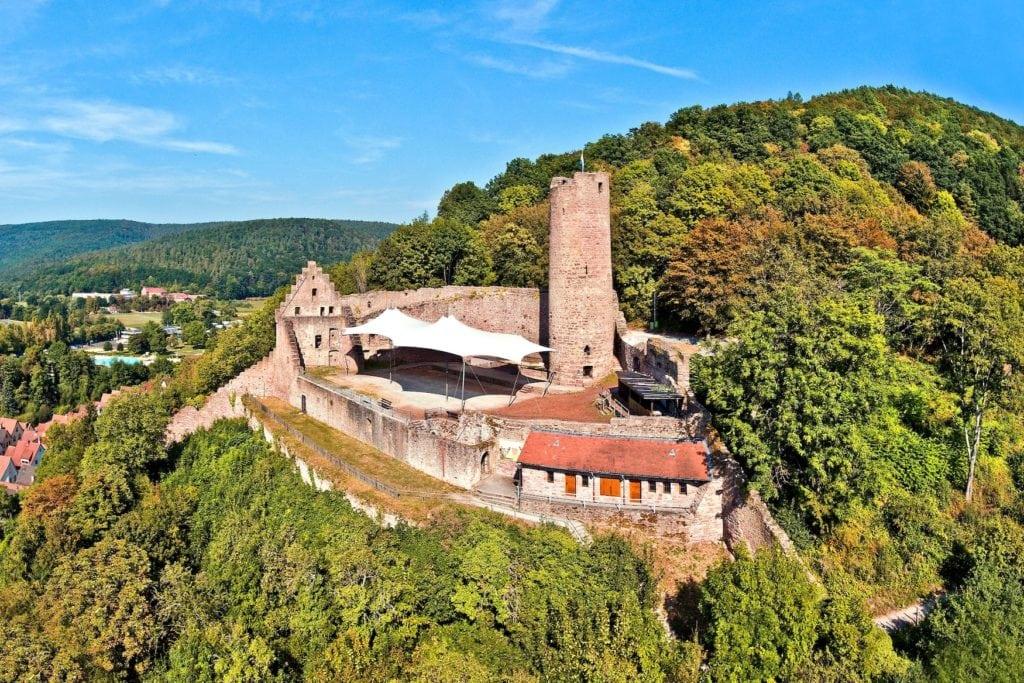 Ruine der Scherenburg in Gemünden am Main