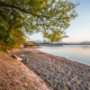 beach at Chiemsee lake in Bavaria