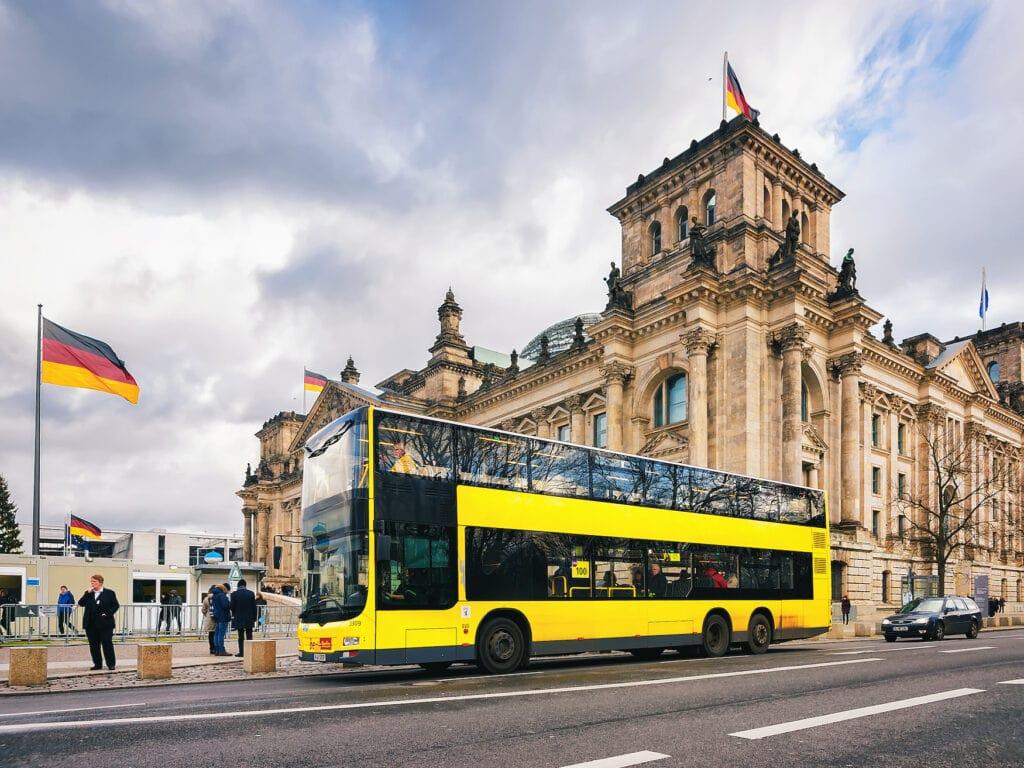 Unterwegs in Berlin mit der Buslinie 100