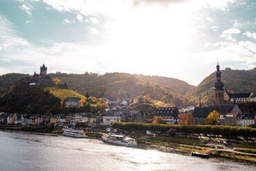 Blick auf Cochem an der Mosel