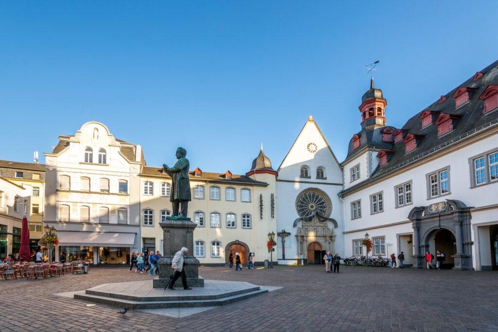 Jesuiten Square in Koblenz, Germany