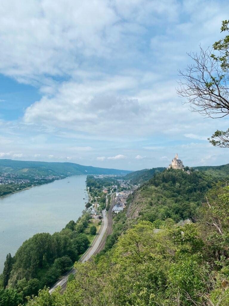 View of Marksburg castle