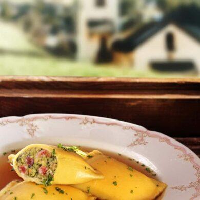 Essen mit Aussicht in den Bayerischen Alpen